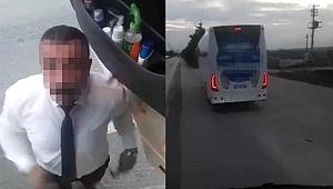 Yol verme nedeniyle tartıştığı kamyon şoförünü darp etti