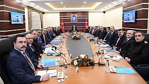 Aksoy başkanlığında, il güvenliği konuşuldu