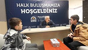 Başkan Büyükgöz'ün genç konukları