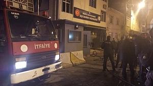 Darıca İlçe Emniyet Müdürlüğünde korkutan yangın