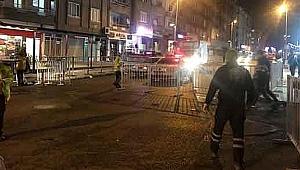 Gebze'de yollar geceden kapandı!