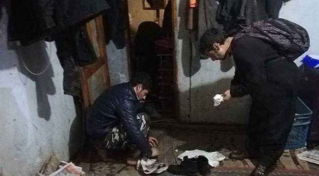 Hurdacıların yanında çalışan 21 kaçak göçmen yakalandı