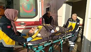 İskeleden düşen işçi yaralandı