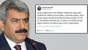 Rektör Hülagü'den öğrencilere jest!