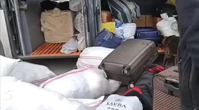 Yolcu otobüsünde 10 kilogram eroin ele geçirildi