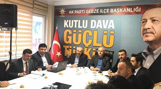 AK Parti Gebze meclis öncesi bir araya geldi