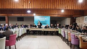 Başkan Şayir'den Emekli olan personellere vefa ve teşekkür yemeği