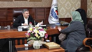 Başkan Şayir'e ziyaretçi akını