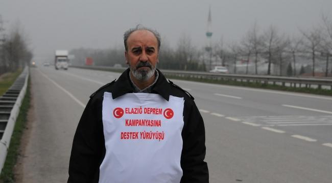 Elazığ'daki duyarlılığa teşekkür etmek için Ankara'ya yürüyor