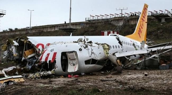 O uçağın enkazı Gebze'ye gönderilecek!