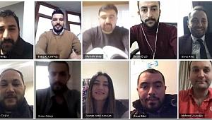 AK Gençler telekonferans ile toplantı yaptı