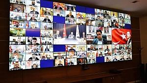 AK Parti'de İl Başkanları Toplantısı video konferansla yapıldı