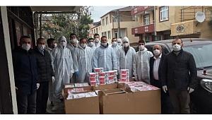 Aktaş ve ekibi Darıca'da maske dağıtıp uyardı