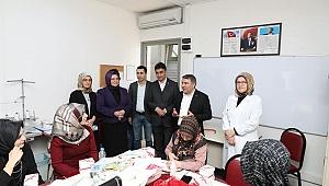 Başkan Şayir, KOMEK'li kadınları unutmadı