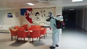 Büyükşehir'in dezenfekte çalışmaları tüm hızıyla devam ediyor