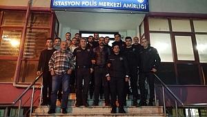 Darıcalı Ülkücülerden polislere gece ziyareti