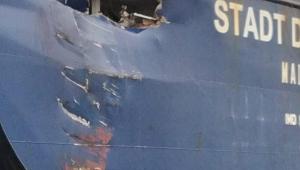 Eskihisar'da gemiler çarpıştı