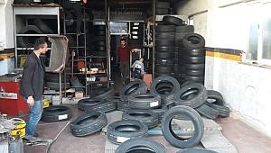 Fabrikadan 130 bin TL'lik lastik çalan 3 kişi yakalandı