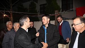 Gözen ve Çiftçi, İdlip gazimiz Uzman Çavuş Feyyaz Emir'i karşıladı