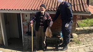 Jandarmadan 65 yaş ve üzerine alışveriş desteği