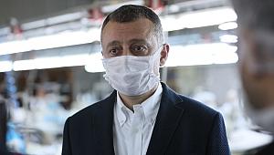 Büyükakın; Günlük 17 bin maske 200 tulum  üretiyoruz
