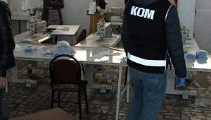 Darıca'da izinsiz üretilen 90 bin maske ele geçirildi