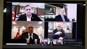Ellibeş, belediye başkanlarıyla tedbirleri görüştü