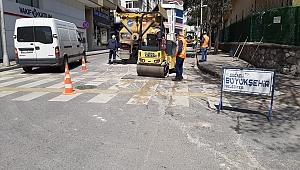 İzmit Leyla Atakan Caddesi'nde yol bakım ve onarım çalışması