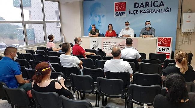CHP Darıca'da sosyal mesafeli olağan toplantı