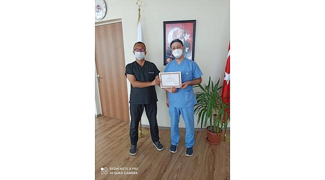 Dilovalı sağlık çalışanlarına teşekkür belgesi!