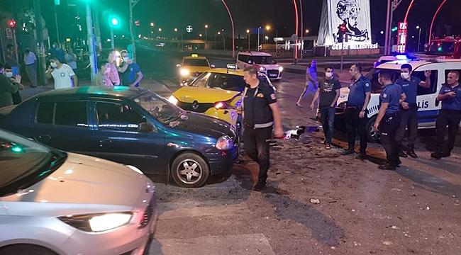 Gebze'de zincirleme trafik kazası: 1 yaralı