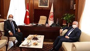 Meclis Başkanı Şentop'dan Akar'a ziyaret