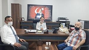 MHP'den seçim müdürüne hoş geldin ziyareti