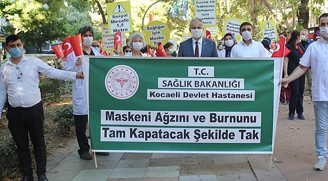 Sağlık çalışanlarından farkındalık yürüyüşü