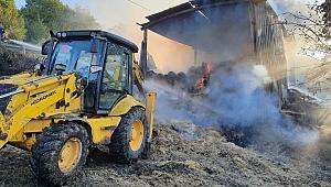 3 bin balya saman çıkan yangında kül oldu