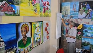 67 yaşında resim yeteneğini keşfetti, 40 eser ortaya çıkardı
