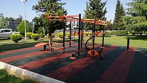 Büyükşehir ilk workout spor istasyonu Yahya Kaptan'da kuruldu