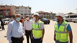 Sarıcami Meydan Projesinde Çalışmalar devam ediyor