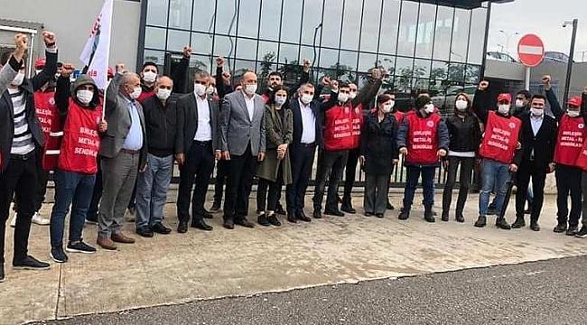 CHP ve HDP'den direnişteki işçilere destek