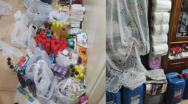 Evinde marketten çaldığı ürünlerle yakalandı