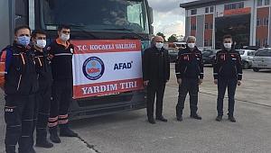 İzmir'e, Kocaeli'den 9'uncu yardım tırı