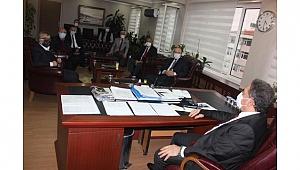 Kaymakam Güler oda başkanlarıyla koronayı konuştu