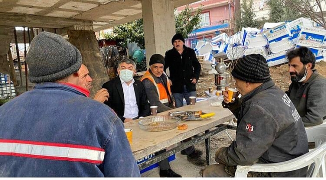 Başkan Şayir'den işçilereziyaret