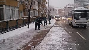 Gebze'de karla mücadele çalışmaları