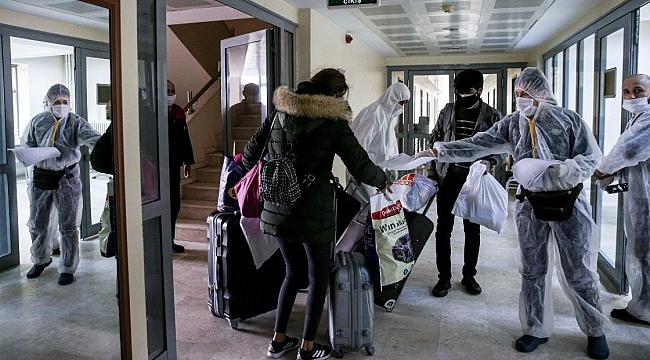 Kocaeli'de onlarca kişi yurtlarda karantinaya alındı