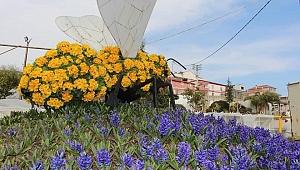 Gebze'de parklar çiçek açtı