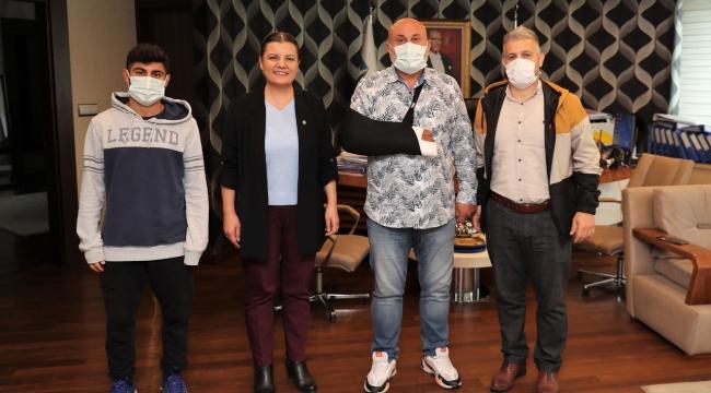 Başkan Hürriyet, Gültepe Spor'u ağırladı