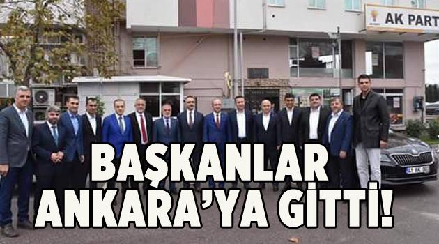 Başkanlar Ankara'ya gitti!