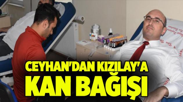 Ceyhan'dan Kızılay'a kan bağışı