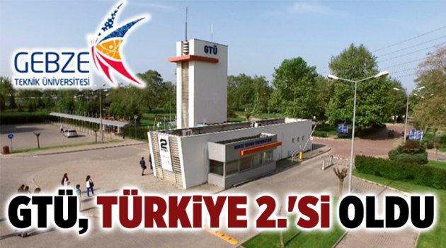 GTÜ, Türkiye 2.'si oldu